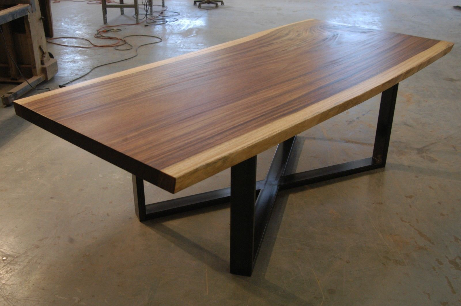 Reclaimed monkeypod slab dining table with cross leg bjorling grant monkeypodabdiningxleg4g watchthetrailerfo