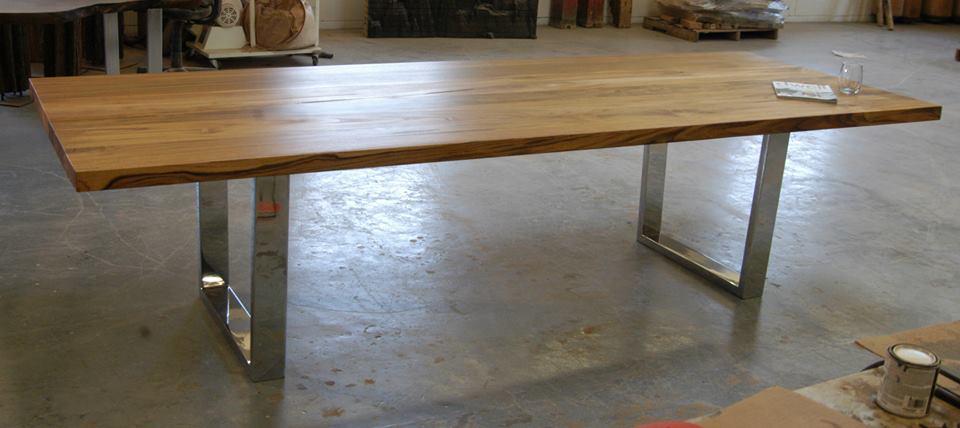 Teak dining table with chrome legs Bjorling Grant : teakchromelegdining1 from www.bjorlinggrant.com size 960 x 428 jpeg 254kB