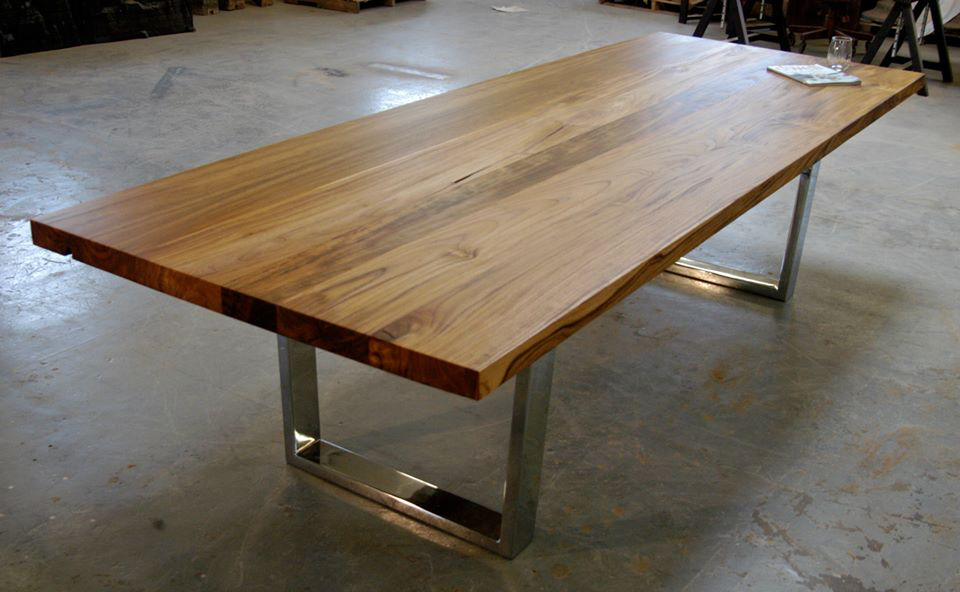 Teak Dining Table With Chrome Legs Bjorling Grant
